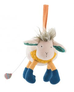 musical toy, baby toys, soft toys, zig et zag, musical sheep - moulin roty toys australia