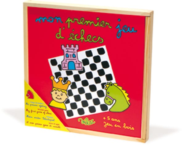 Red box with picture of chess game on front