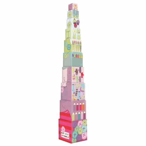 cardboard stacking cubes - Les Jolis pas beaux - Moulin Roty