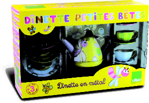 Yellow box with mulit coloured set inside