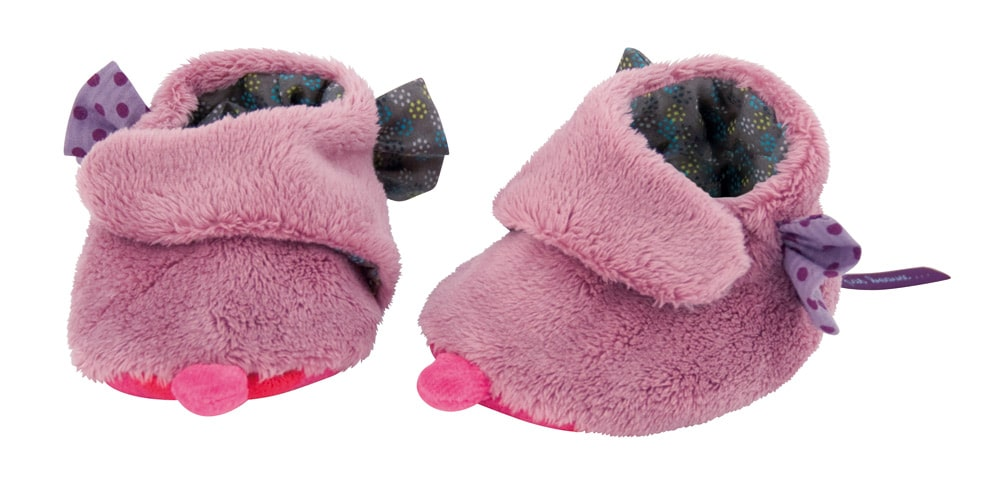Purple soft slippers