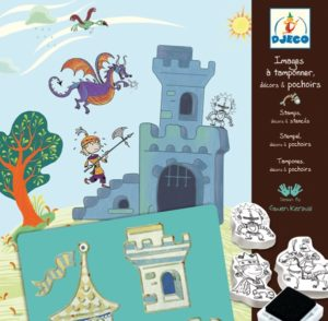 djeco knights stamps patterns and stencils