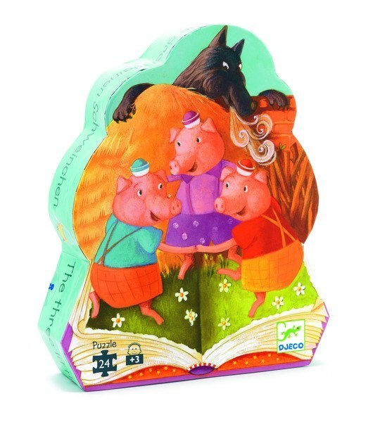 the three little pigs silhouette puzzle