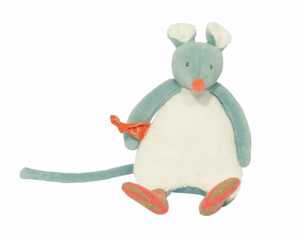 Biscotte and Pompon Biscotte mouse rattle