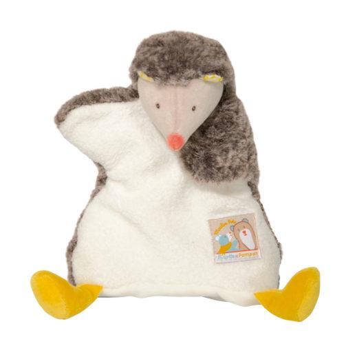 Biscotte and Pompon hedgehog puppet comforter