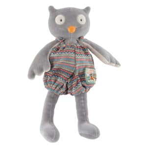 Little Isidore the owl doll - La Grande Famillie - soft toys, plush toys, baby toys - Moulin Roty toys Australia