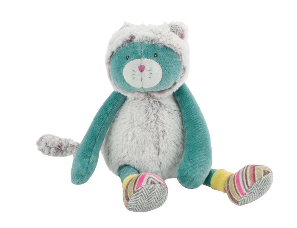 Les Pachats little blue cat doll