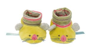 Les Pachats lime mouse baby slipers