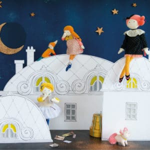 Les parisiennes - on a star lit sky in Paris - Moulin Roty toys Australia