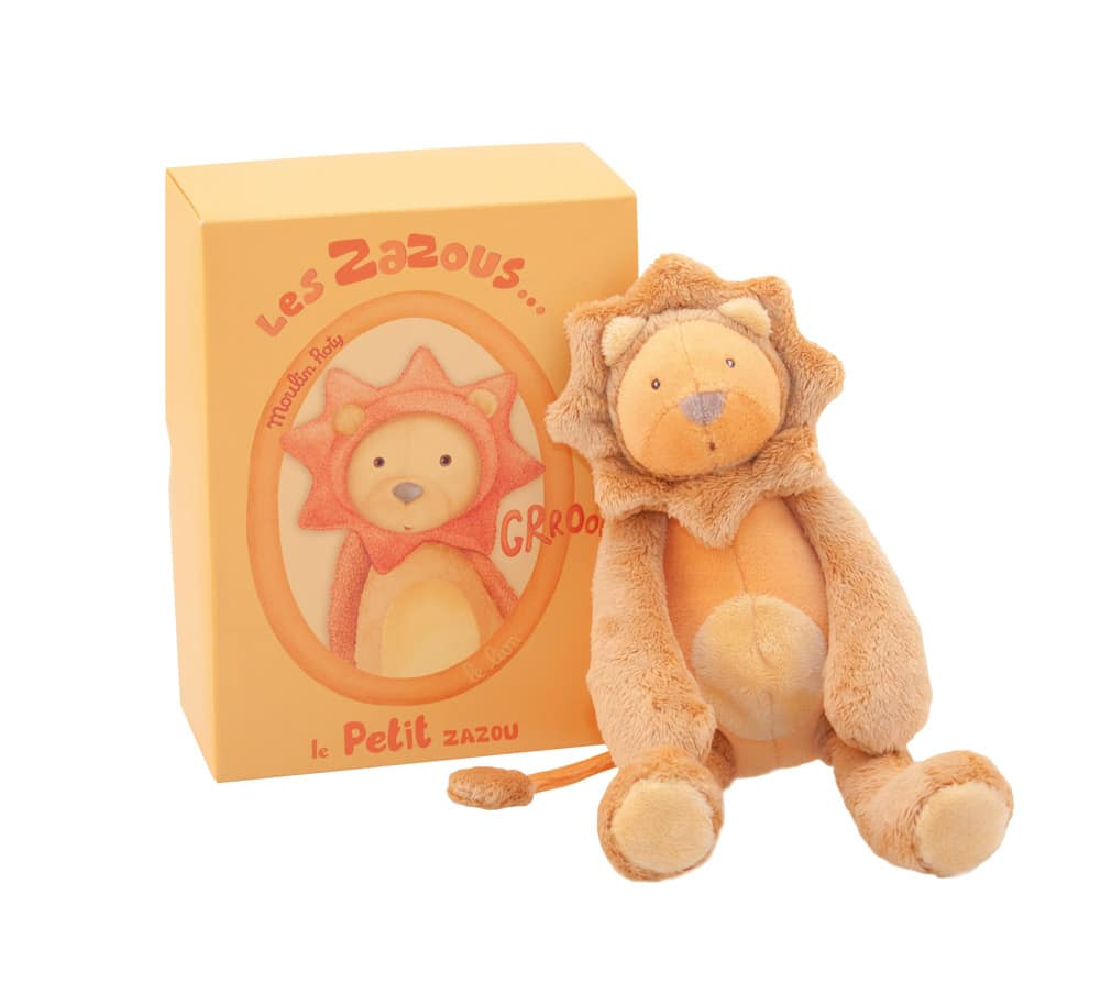 Les Zazous small lion doll