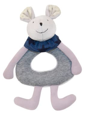 Aime and Celeste mouse ring rattle