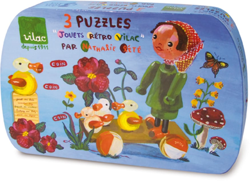 Nathalie Lete 3 old toy puzzles