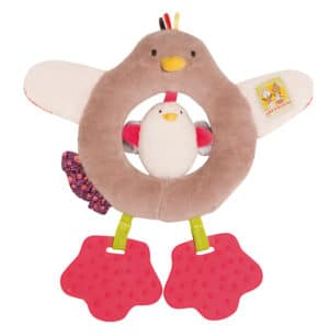 Les Cousins hen ring rattle - Moulin Roty