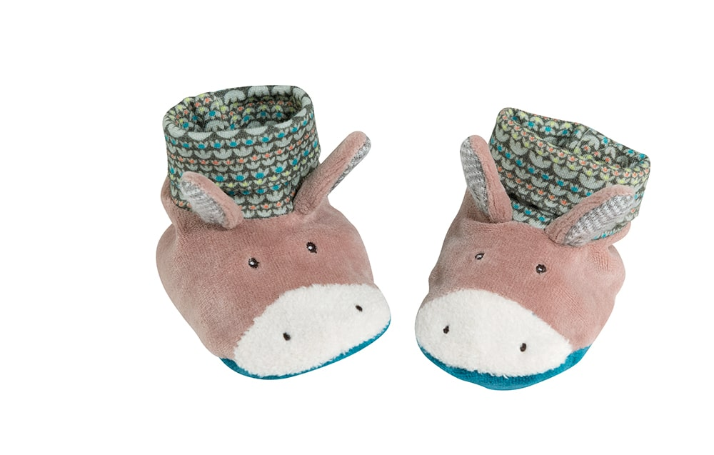 Les Cousins donkey baby slippers - Moulin Roty
