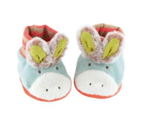 Biscotte and Pompon donkey baby slippers