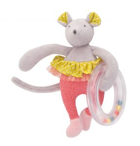 Mademoiselle mouse ring rattle - Moulin Roty