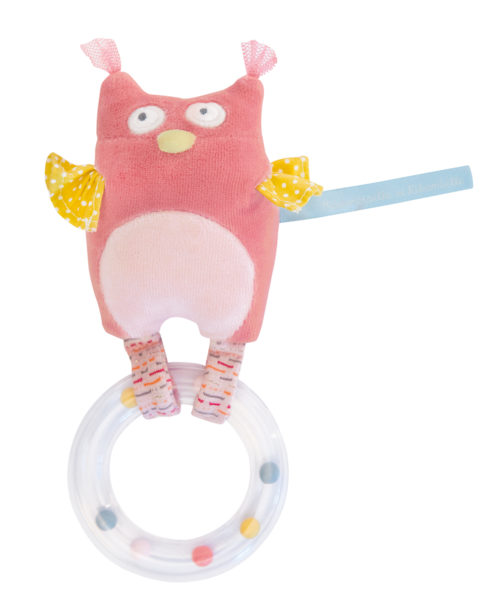 Mademoiselle owl ring rattle - Moulin Roty