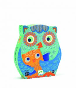 Hello Owl silhouette puzzle - Djeco