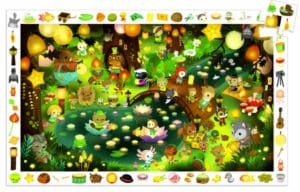 Forest Party observation puzzle - Djeco