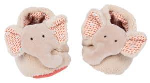 Les Papoum elephant slippers