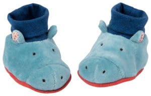 Les papoum hippo baby slippers