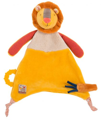 Les Papoum - Lion comforter with teething ring