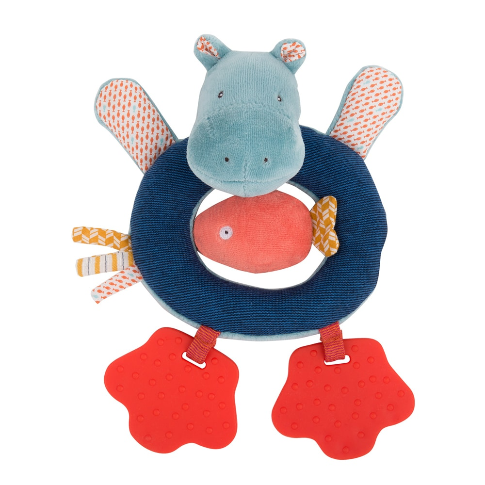 Hippo ring rattle - Moulin Roty
