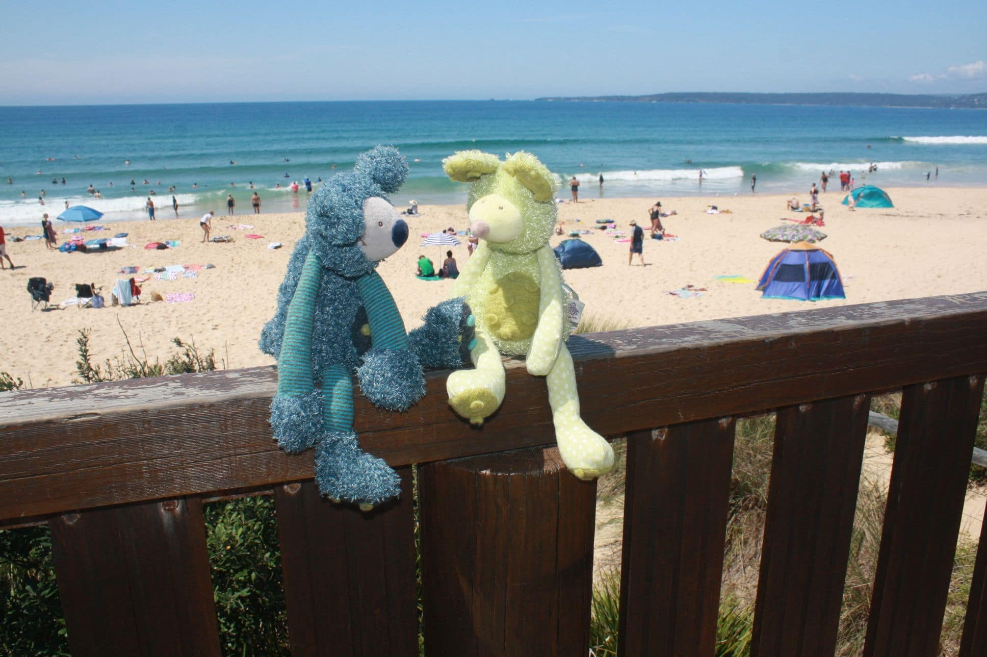 Koala zazous and mouse zazous at the beach - Moulin Roty