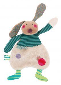 Les Jolis pas Beaux rabbit comforter - Moulin Roty