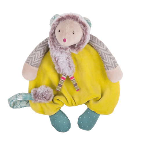 Les Pachats Green Mouse Comforter- Moulin Roty