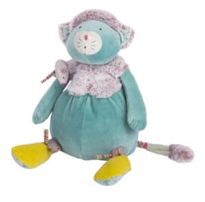 Les Pachats Blue Cat Doll with Mouse - Moulin Roty
