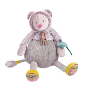 Les Pachats Grey Mouse Doll - Moulin Roty
