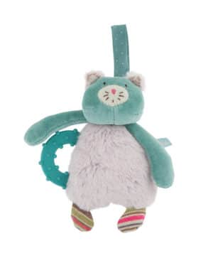 Les Pachats Cat Terthing Ring With Rattle - Moulin Roty