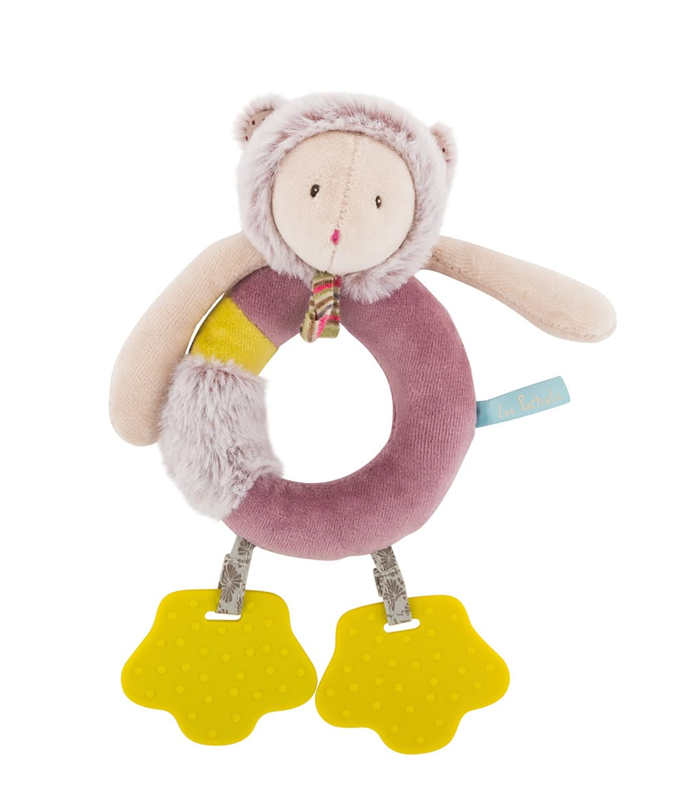 Les Pachats Mouse Ring Rattle Moulin Roty Little Snail