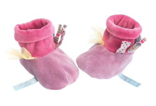 Les Pachats Purple Slippers - Moulin Roty