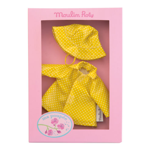 Doll's clothes - raincoat set - Moulin Roty