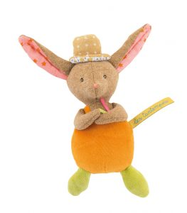 rabbit rattle, rattle, baby toys, soft toys, Tartempois, Moulin Roty toys Australia