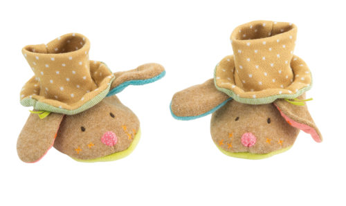 dog baby slippers, footwear, winter footwear, baby toys, soft toys, toys, Tartempois, Moulin Roty toys Australia