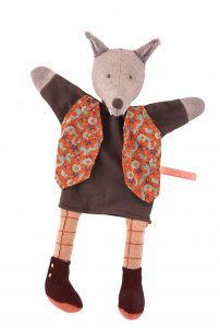 Il etait une fois the gentleman wolf hand puppet - Moulin Roty