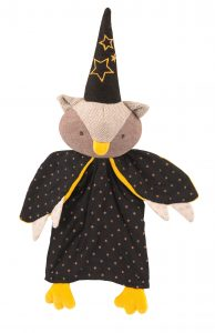 Il etati une fois - owl magician hand puppet - Moulin Roty