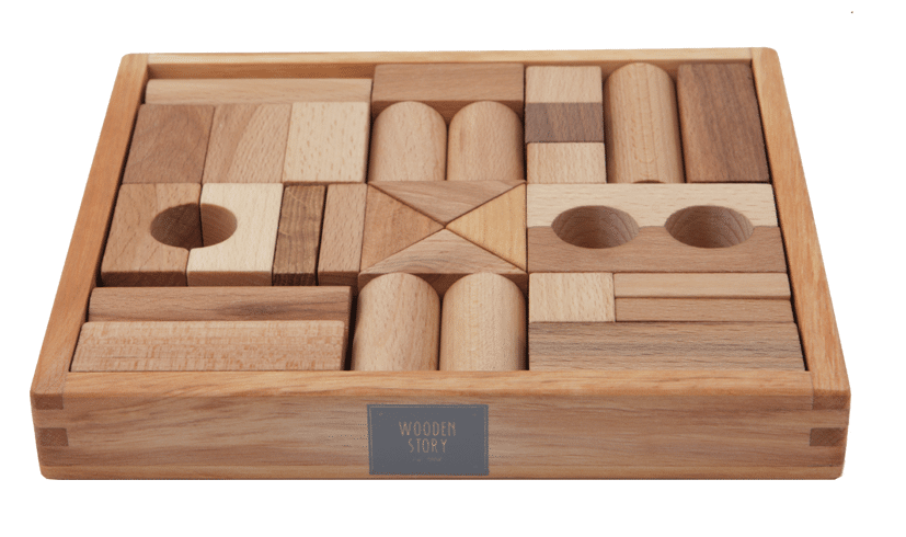 Wooden Story - natural wooden blocks 30 pieces