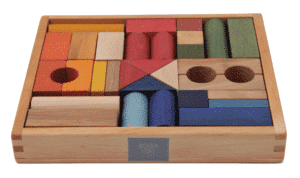 Wooden Story - rainbow blocks 30 pieces