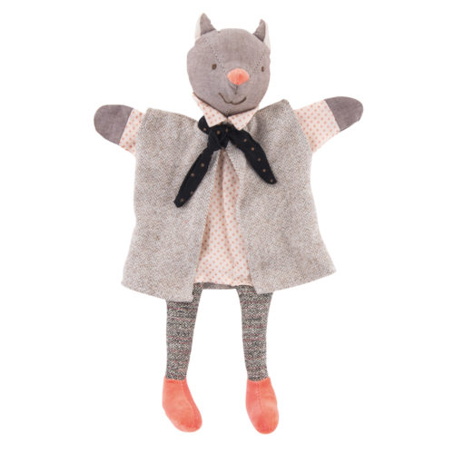 fairy tales and nursery rhymes - the gallant cat hand puppet, puppets, il etait une fois, Moulin Roty toys