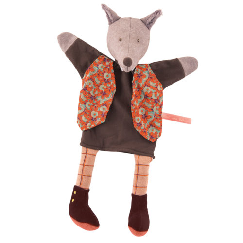 fairy tales and puppets - Sherlock Holmes - il etait une fois - gentleman wolf hand puppet - puppets