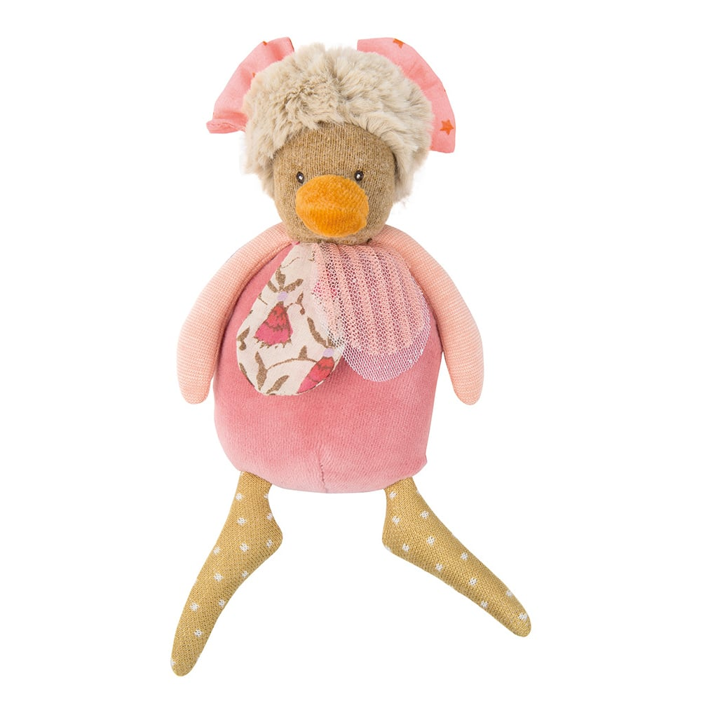 hen rattle, rattle, baby toys, soft toys, toys, Tartempois, Moulin Roty toys Australia