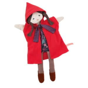 nursery rhymes and fairy tales, little red riding hood hand puppet. puppet play, il etait une fois - Moulin Roty Australia