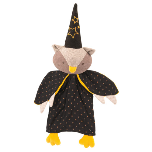 puppet play, puppets, magician owl hand puppet, il etait une fois - moulin roty toys australia