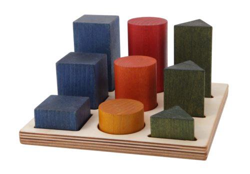 Rainbow shape sorter board - wooden story