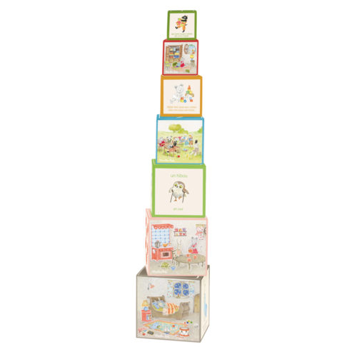 La grande famille stacking cubes - Moulin Roty