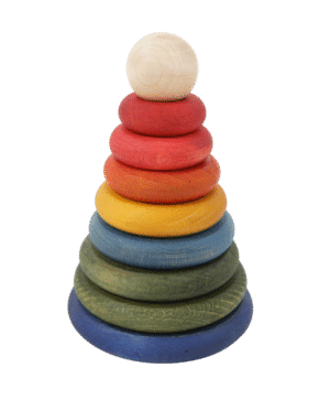 wooden story - rainbow round stacker